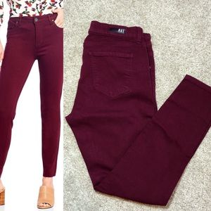 Kut From the Kloth Donna Ankle Skinny Deep Plum